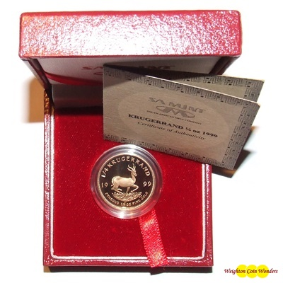 1999 Gold Proof 1/4oz KRUGERRAND